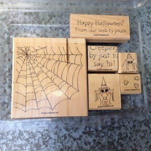 Stampin Up Web Wishes Rubber Stamp